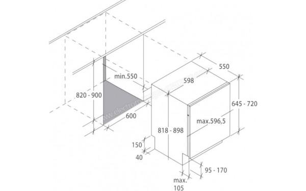 CANDY CDIN4S532PS - Schéma technique